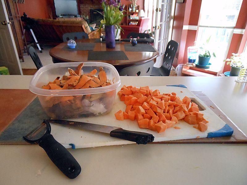 Choppedsweetpotatoes