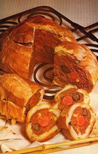 Frank-and-burger loaf
