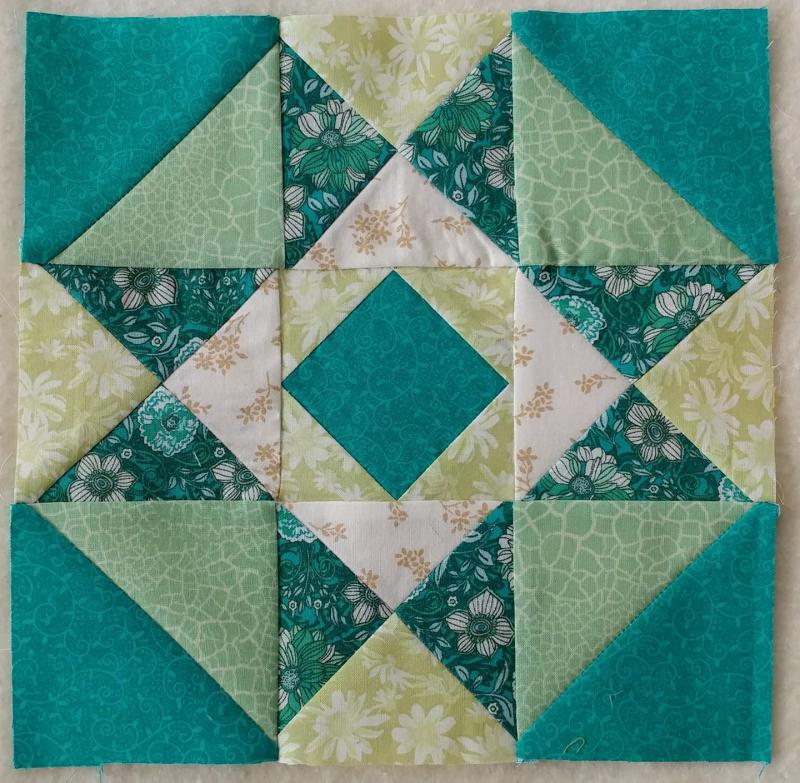 étoile bleu, sarcelle et vert